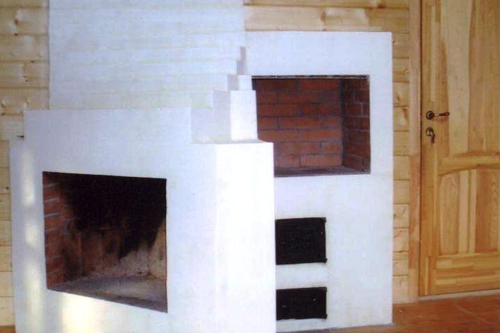 Камин совмещенный с печью для готовки