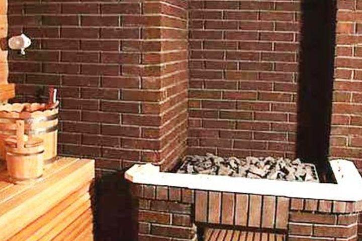 Печь банная из клинкерного кирпича