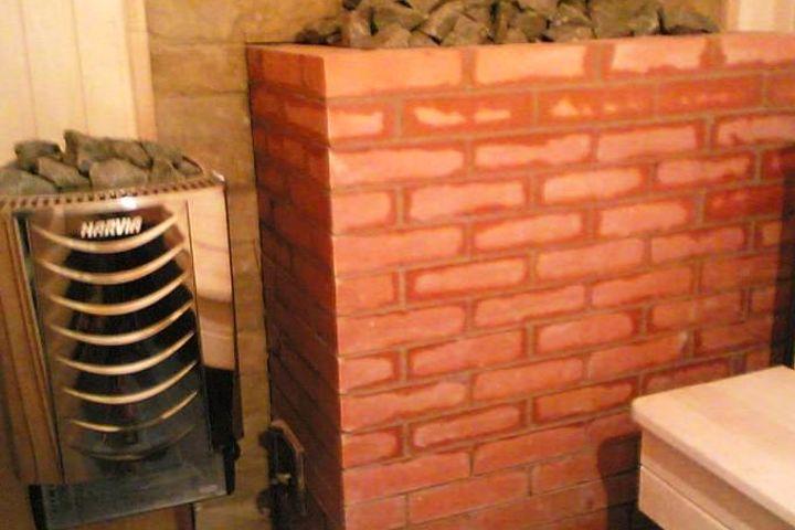Печь банная на камнях и электропечь