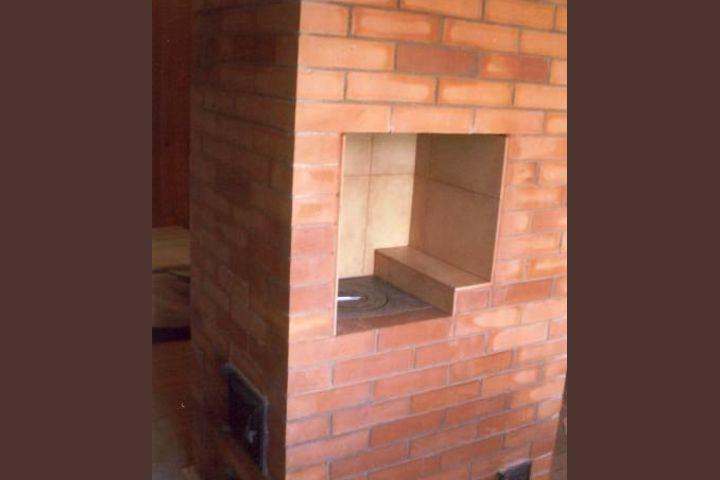 Печь отопительная с плитой для готовки