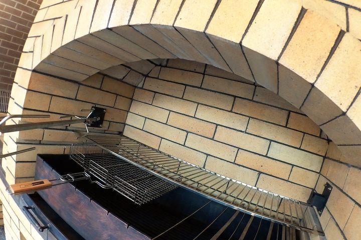 Барбекю комплекс под отделку угловой с аркой